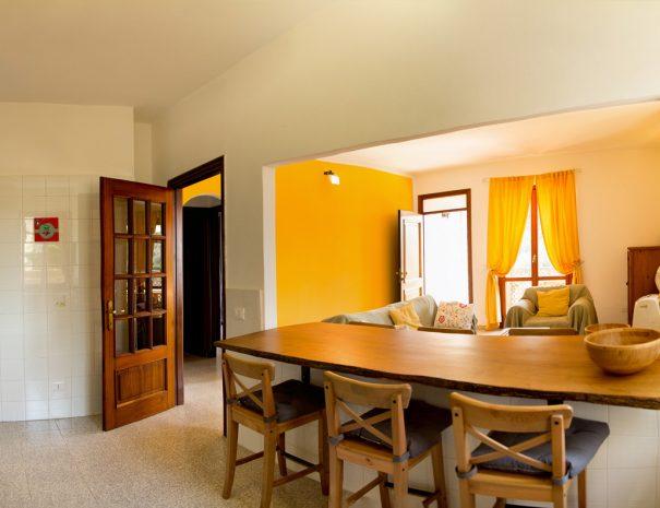 appartamento vista dalla cucina